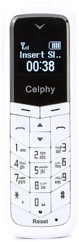 Celphy BM50 - 0.66 Mini Mobile Phone and Bluetooth Headset - White
