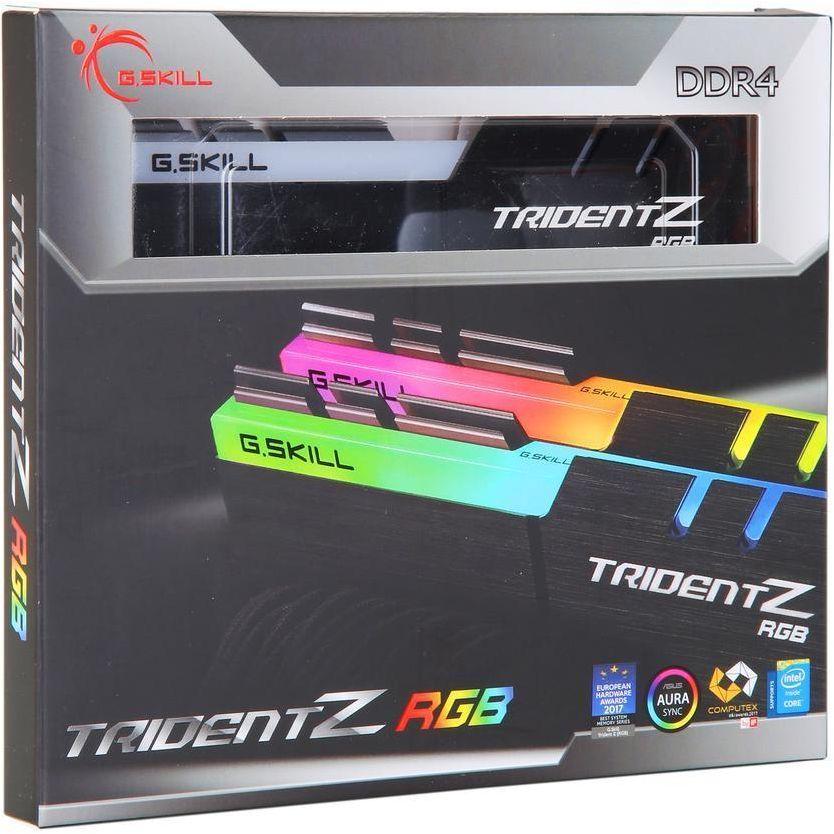 GSKILL TridentZ RGB Series 32GB (2 x 16GB) DDR4 3200 MHZ Desktop Memory Model F4-3200C16D-32GTZR