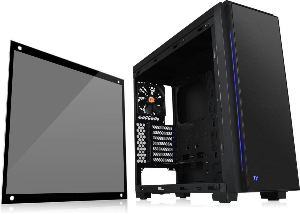Thermaltake Versa C23 RGB Tempered Glass SPCC ATX Mid Tower Tt LCS Certified Gaming Computer Case with Riing Sync RGB Capable CA-1H7-00M1WN-00
