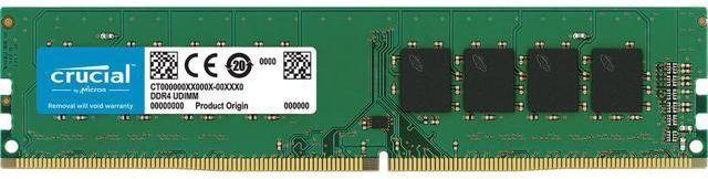 Crucial Desktop Memory 8GB DDR4 2400 MT/s PC4-19200 CL17 SR x8 Unbuffered DIMM 288pin - CT8G4DFS824A