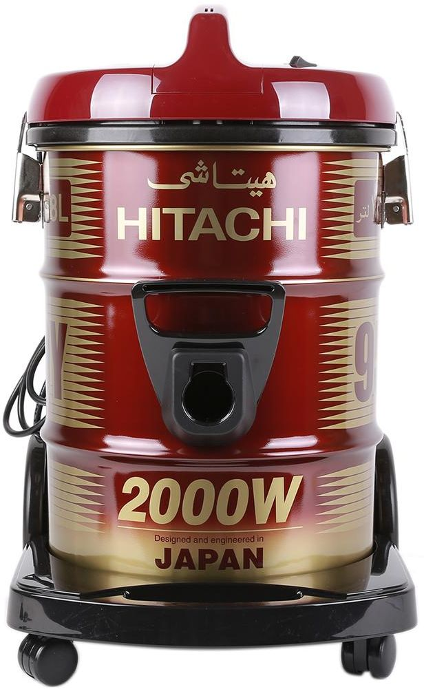 Hitachi CV950Y24CBSWR 18 Liter Corded Canister Vacuum Cleaner, Red