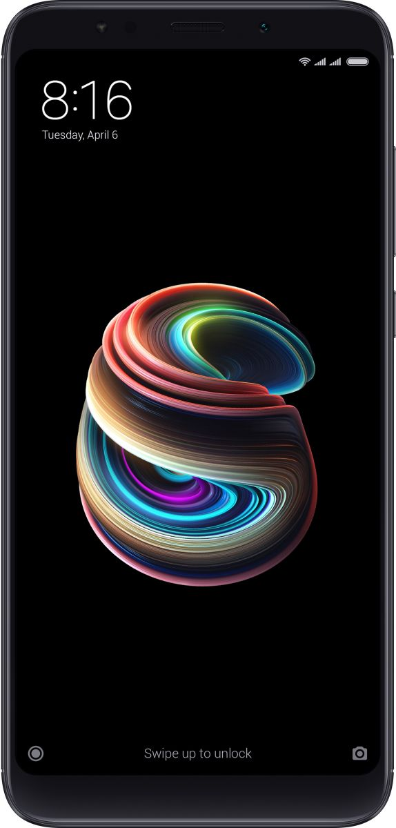 Xiaomi Redmi 5 Plus Dual SIM - 32GB, 3GB RAM, 4G LTE, Black - International Version