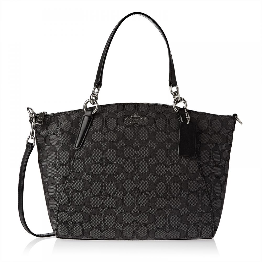 Coach F27582 Signature Small Kelsey Satchel Bag for Women - Leather, Black