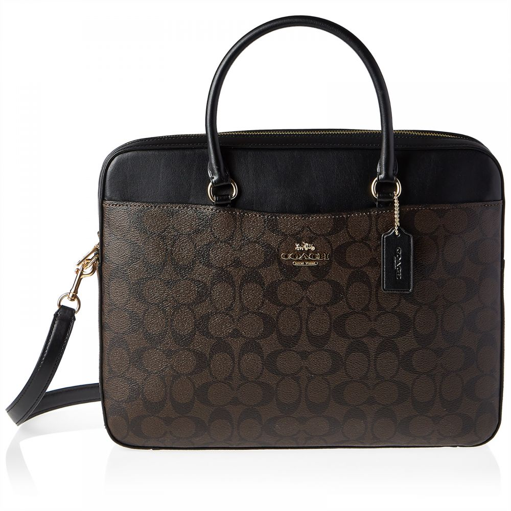 Coach F39023 Signature Crossbody Bag for Women - Leather, Brown