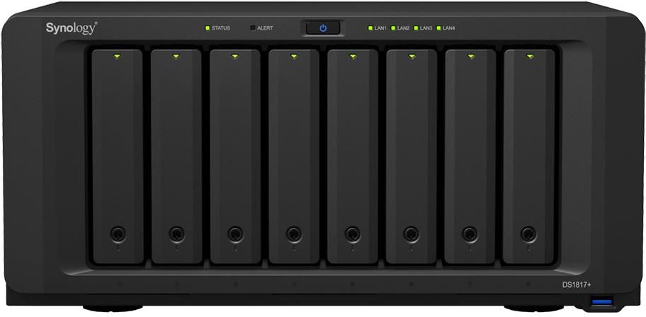 Synology DiskStation DS1817+ 8G 8 Bay Diskless NAS - Atom Quad Core CPU 8GB RAM