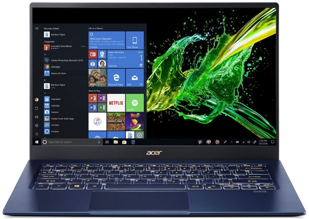Acer Swift 5 Laptop - Intel core i7-1065G7, 512GB SSD, 16GB RAM, 14 Inch, Nvidia 2GB MX 250, Windows, Blue