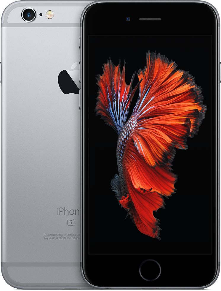 Apple Iphone 6S Plus With Facetime - 64 GB, 4G LTE, Space Grey, 2 GB Ram, Single Sim