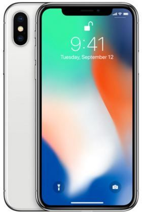 Apple Iphone X With Facetime - 256 GB, 4G LTE, Silver, 3 GB Ram, Single Sim