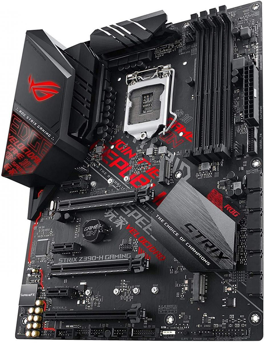 ASUS ROG Strix Z390-H Gaming LGA1151 (Intel 8th and 9th Gen) ATX DDR4 DP HDMI M.2 USB 3.1 Gen2 Gigabit LAN Motherboard, Black