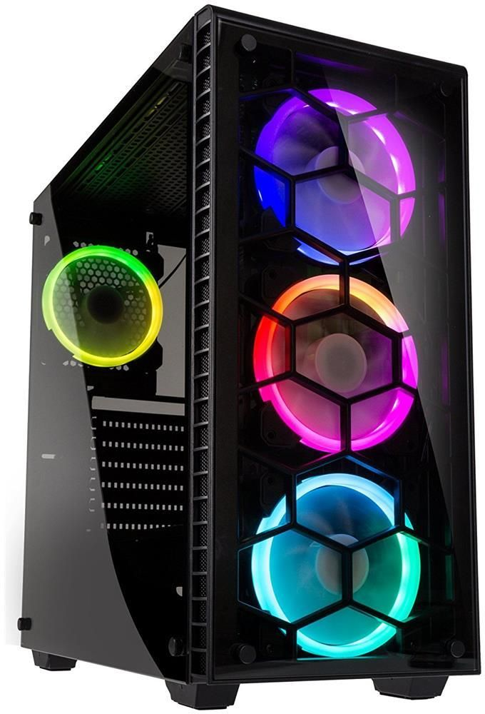 CORSAIR Obsidian 500D RGB SE Mid-Tower Case, 3 RGB Fans, Integrated Commander PRO Fan and Lighting Controller