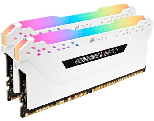 Corsair Vengeance RGB PRO 16GB (2x8GB) DDR4 3600 PC4-28800 - White (CMW16GX4M2C3600C18W)