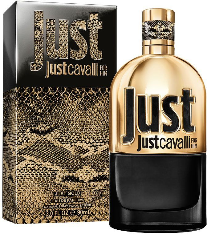 Just Cavalli Gold by Roberto Cavalli for Men - Eau de Parfum, 90ml