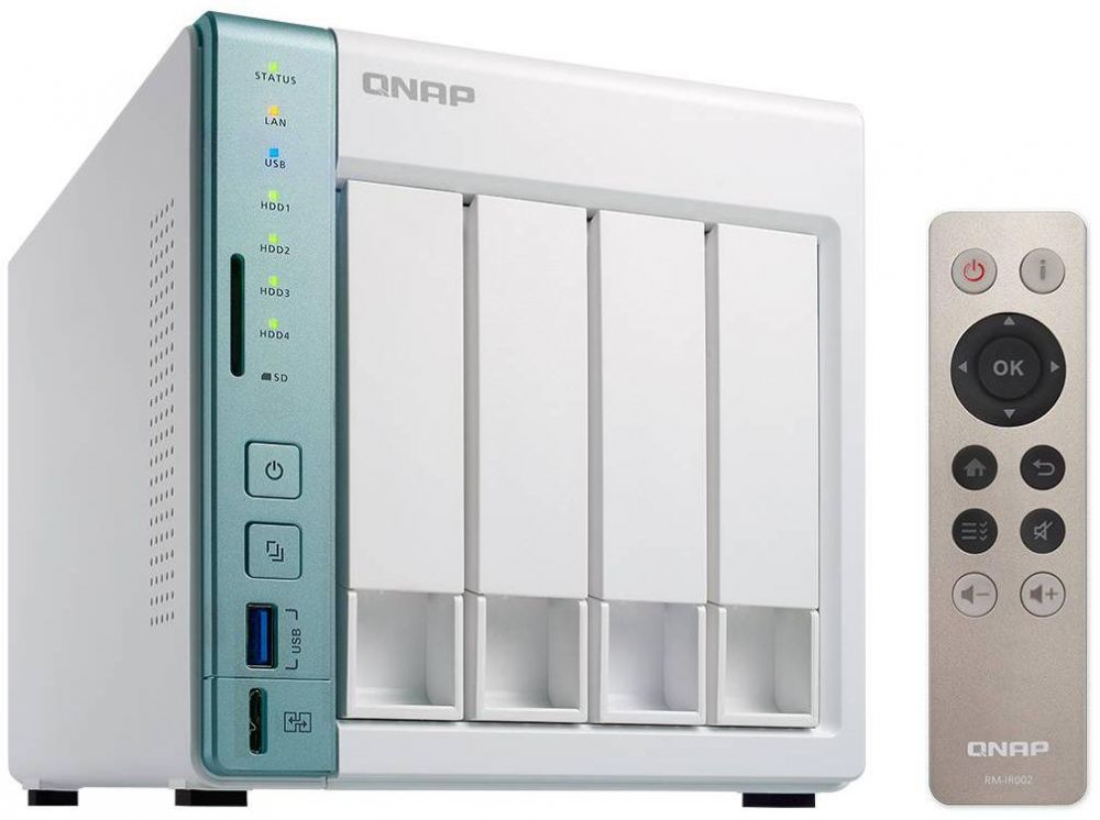 QNAP TS-451A-2G 4 Bay Diskless NAS - Intel Celeron 1.6GHz dual-core CPU - 2GB Ram
