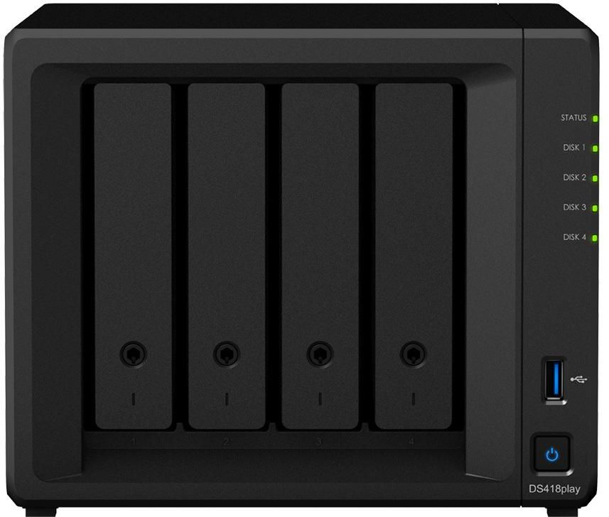 Synology DiskStation DS418Play 4 Bay Diskless NAS Dual Core CPU 2GB RAM
