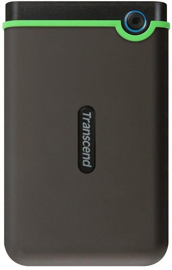 Transcend 2 TB USB 3.0 External Hard Drive - Military Drop Standards TS2TSJ25M3