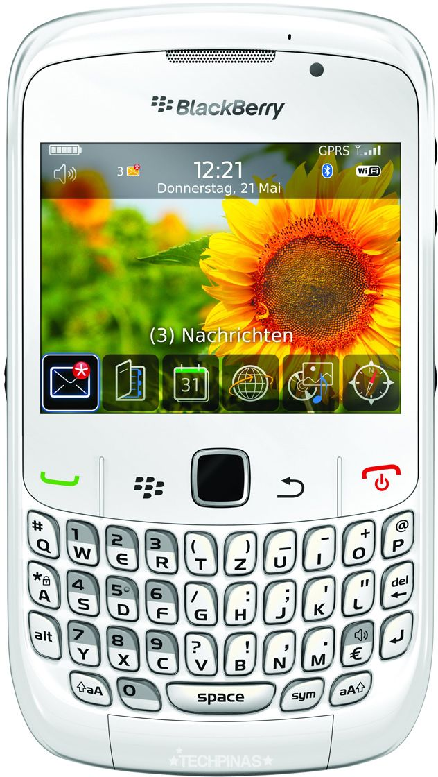 Blackberry Curve 8520 - 256 MB, WiFi, White