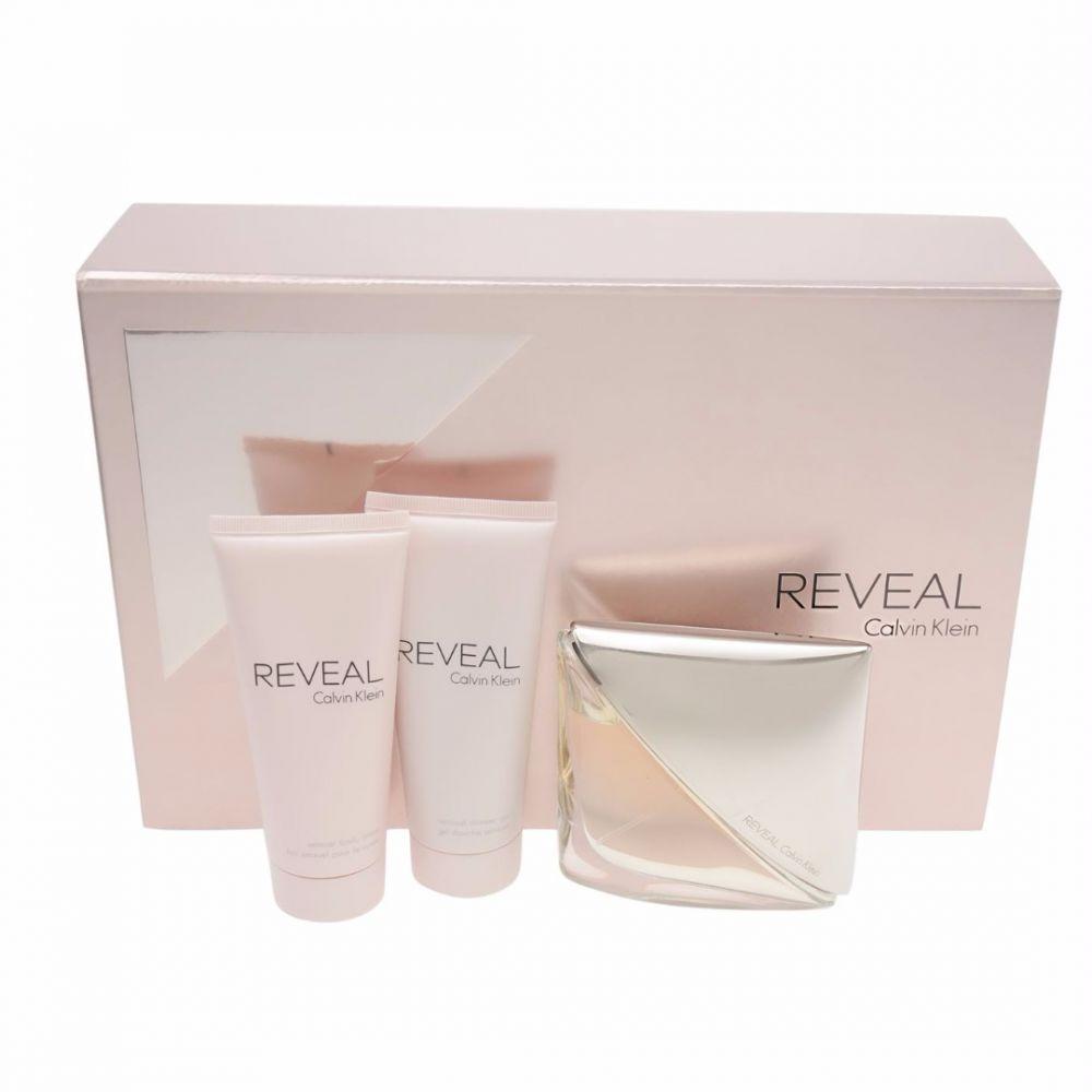 Calvin Klein Reveal Gift Set For Women Eau De Parfum 100Ml , Body Lotion 100Ml And Shower Gel 100Ml