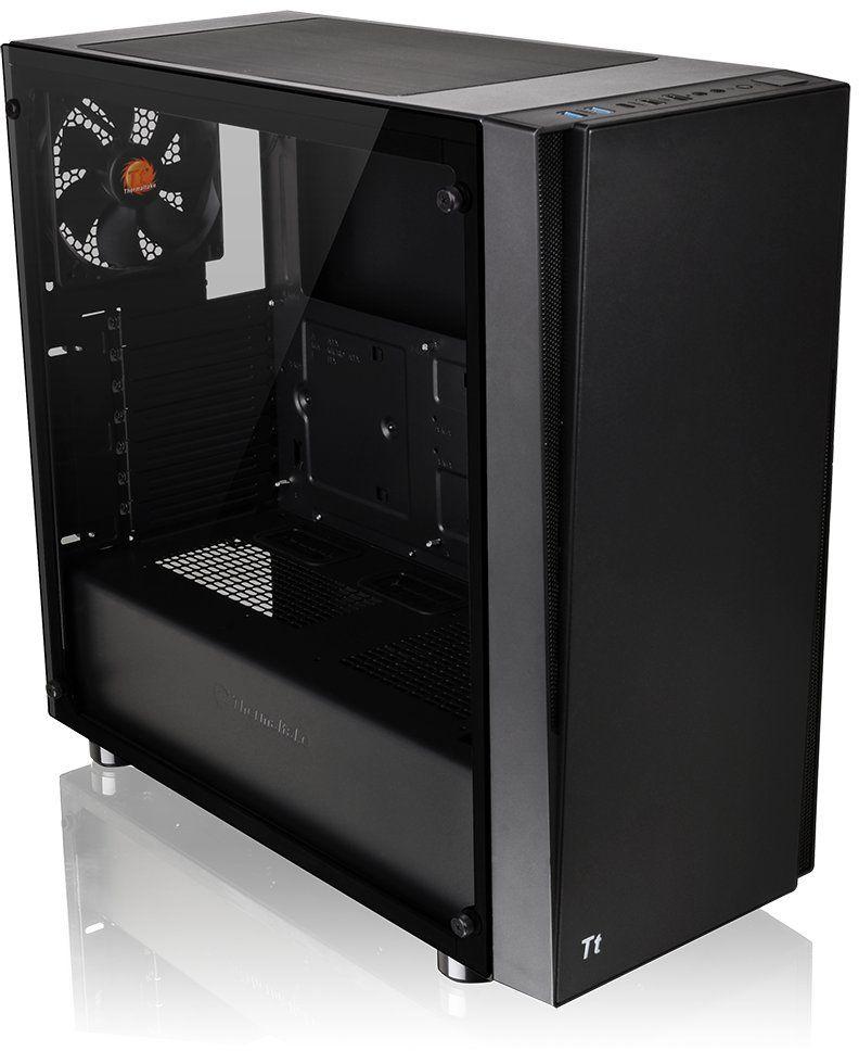 Thermaltake Versa J21 Tempered Glass ATX Vertical GPU Modular Gaming Mid Tower Computer Case | CA-1K1-00M1WN-00